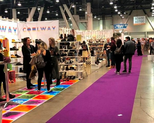 Footwear manufacturers participate in trade fair circuit in the United States