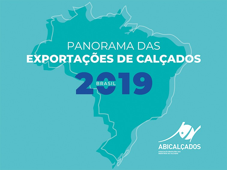 Footwear exports grew by 7.5% in reais in 2019